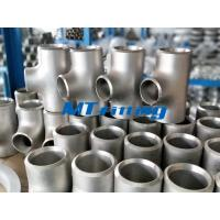 China Stainless Steel WP304L / 316L Butt Welded Flanges Pipe Fittings ASTM A815 Reducing Tee on sale