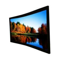 China Custom Cinema Projection Screen / Curved Projector Screen 92 on sale
