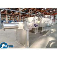 Chemical Slurry Stainless Steel Filter Press , 5m2 450mm Plate Frame Filter Press Unit Manufactures