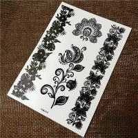 OEM Service Black Tattoo Stickers Non Toxic Glitter Flash Temporary Tattoos Manufactures