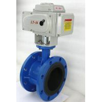Double Flange Butterfly Electrically Operated Water Valve Standard Size Manufactures
