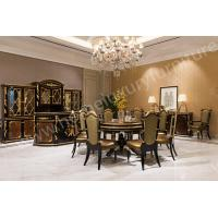 China Large Dining Set For Sale Carved Solid Wood Dining Table 6 Chairs Set TN-023B on sale
