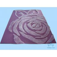 Purple Pink Rose Multi-Shaggy Rug Acrylic Under Polyester Silk Pile China Carpet Shaggy Rug Manufactures