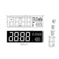 China Pin Connector HTN LCD Screen LCD Digit Calendar Clock Display on sale