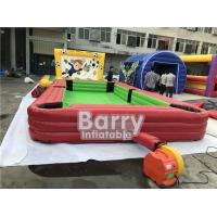 China Giant Pool Table Soccer Inflatable Sports Games / Inflatable Snooker Field on sale