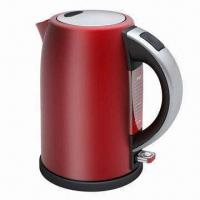 Stainless Steel Kettle with Red Painting and 1.8L Capacity Manufactures