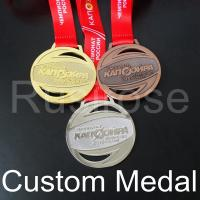 Quality Custom gold silver run medal,personalized Antique bronze honor runner sport medal,City Game Competition club award medal for sale