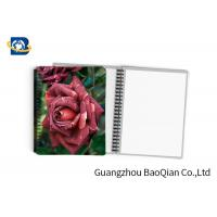 China 0.6mm PET Material Personalized Spiral Notebooks  3D Lenticular Stationery on sale