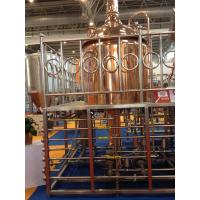 Red Copper Commercial Beer Brewing Equipment 100MM Insulation Thickness Manufactures