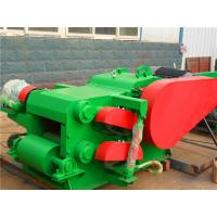 Industrial Electric Large Log Drum Wood Chipper 55kw With 30mm Chips Manufactures