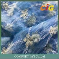 China Home Furnishing Textiles 280cm Wide Embroider Polyester Curtain Voile Fabric on sale