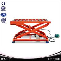 Hot Sale 2000kg Heavy duty Hydraulic Lifting Scissor Electric Lift Platform With Roller Manufactures