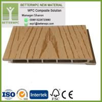 China High quality 3D Wood Grain WPC Cladding Anti-uv Facade Boards Exterior Wood Composite Wall Panel on sale