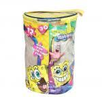 Spongebob Theme Exquisite Printing Toy Bricks Zipper Storage Bags for Children Building Blocks Manufactures