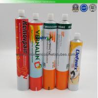 Recyclable Collapsible Tubular Containers , Makeup Metal Squeeze Tubes For Cosmetics Manufactures