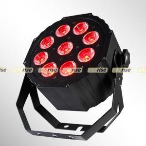 China 9pcs 12W Led Par Stage Lights RGBWA UV 6in1 DMX For Uplight City Color Light on sale