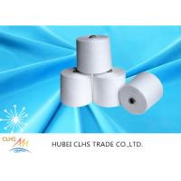 Low Shrinkage Raw White Spun Polyester Yarn High Strength Sewing Thread Anti - Pilling Manufactures