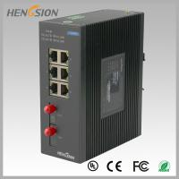8 Port fast ethernet switch 1.2Mpps Packet forwarding speed , fiber network switch Manufactures