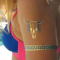 OEM Metallic gold silver Custom Temporary Tattoo For Decoration Manufactures