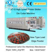 Automatic Carton Box Making Machine With Printing / Slotting And Die Cutting Function Manufactures