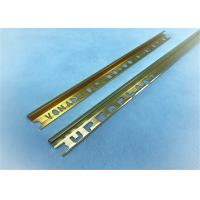 Arc Shape Aluminium Punched Profile Golden Polishing +-0.15mm Precision Manufactures