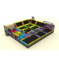 Commercial Soft Play Trampoline , Galvanized Steel Pipe Big Trampoline Park Manufactures