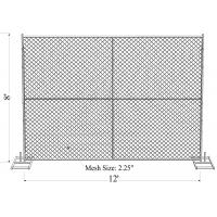 "Standard 8'x10' temporary chain link construction horading fence aperture2¼""(57mm) x2.7mm ga and 16ga wall thick x 42mm Manufactures"