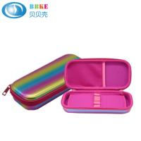 Customized Hard Shell Zipper Closure EVA Pencil Case With Mesh Pocket For School Children