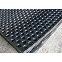 2mm Thick Perforated Steel Mesh , 41 % Open Rating Black Perforated Iron Sheet Manufactures
