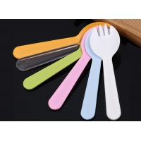 China 115mm Disposable spoon separate packaging plastic fork spoon for cake dessert fruit on sale