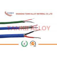 PTFE insulated blue / red thermocouple cable  type JX KX EX with superfine bare wire conductor Manufactures