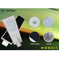 Roads All In One Solar Street Light Sunlight / Motion Sensing Automatically Control Manufactures