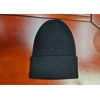 warm black wool or cotton customize woven label inner tape printing knitted boonies hats for winter Manufactures