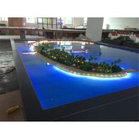 Miniature Villa 3D Model Refined Handmade Technic With Lighting System Manufactures