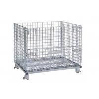 China Metal Cage Storage Wire Mesh Container Stackable Wire Baskets For Warehouse on sale