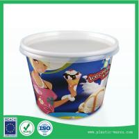 Quality yogurt or ice cream paper cup 300 ml with lids supplier for sale