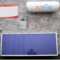 Blue chrome coating flat panel solar water heater Manufactures