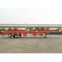 CIMC Truck Dual Axle Flatbed Trailer ABS System Axle For Port Yard Manufactures