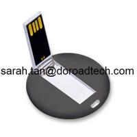 Custom LOGO Printing Best Quality High Speed Plastic Mini Round Card USB Pen Drives Manufactures