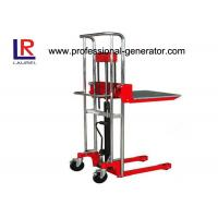 Warehouse Transport Equipment High Lift Hand Mini Stacker With Standard Platform Manufactures