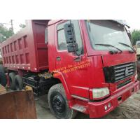 HOWO 336 6x4 Used Dump Truck , Second Hand 10 Wheeler Truck 336 Horsepower Manufactures