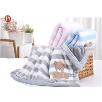 China Thermal Weighted Toddler Warm Baby Blanket Double Layers Cartoon Pattern Polyester Plush Flannel on sale