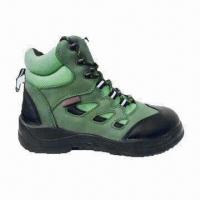 China PU/Rubber Steel-toe Working Boots with Stylish Leather Design and Steel Mid Sole on sale
