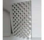 3D Mirror Brick Tiles , 70 * 120cm Size Contemporary Beveled Mirror Tiles Manufactures