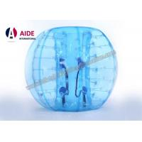 China 1.5m Strong PVC Inflatable Soccer Ball Suit Inflatable Ball Game Human Bubble Wrap Suit Knock Ball on sale