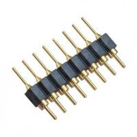 Single Row  2.54 mm Straight Round Pin Header  H=3.0 Black ROHS Manufactures