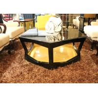 Cool Round / Large Square Coffee Table , Elegant Mirrored Round Coffee Table Sets Manufactures