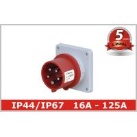Watertight IP67 Pin and Sleeve Plug Three Phase IEC Nonmetallic Manufactures