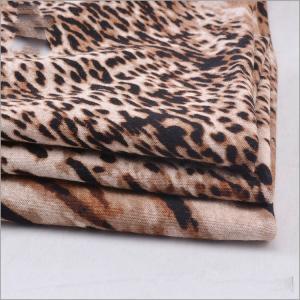 China Rusha Textile Knitted Single Jersey Animal Printed 97% Viscose 3% Spandex Spun Rayon Fabrics Manufacturers on sale