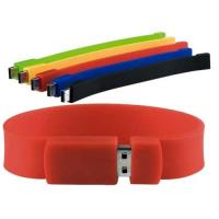 Silicone Bracelet Usb Flash Memory , 4GB Wristband High Capacity Flash Drive Manufactures